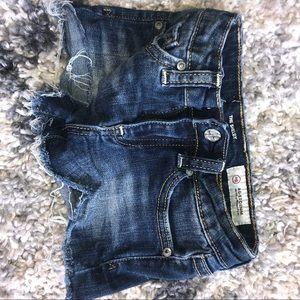 Girls AG Denim Crop Shorts - 18M